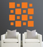 Orange Squares Wall Decal