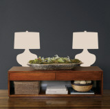 Taupe Retro Lamps Wall Decal