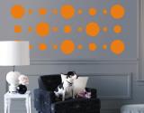 Orange Circles Autocollant mural