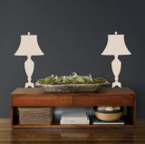 Taupe Victorian Lamps Autocollant mural