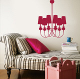 Red Modern Chandelier Wall Decal