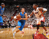 Dallas Mavericks v Miami Heat - Game Two, Miami, FL - JUNE 2: J.J. Barea and Chris Bosh Photographic Print by Jesse D. Garrabrant