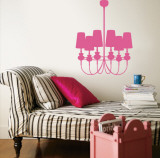 Light Pink Modern Chandelier Wall Decal
