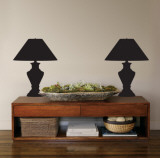Black Classic Lamps Wall Decal