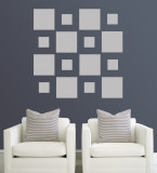 Grey Squares Wall Decal