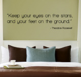 Eyes on the Stars - Theodore Roosevelt Autocollant
