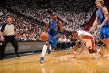 Dallas Mavericks v Miami Heat - Game One, Miami, FL - MAY 31: Jason Terry and Mario Chalmers Photographic Print by Jesse D. Garrabrant