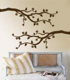 Brown Cherry Blossom Branch Muursticker