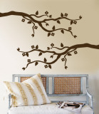 Brown Cherry Blossom Branch Wall Decal