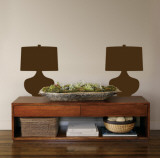 Brown Retro Lamps Wall Decal
