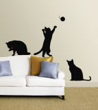 Katten Muursticker