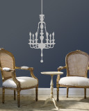 Grey Classic Chandelier Wall Decal