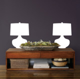 White Retro Lamps Wall Decal