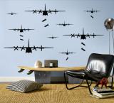 Bomber Airplanes - Black Vinilos decorativos