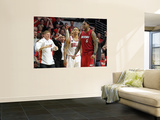 Miami Heat v Chicago Bulls - Game Five, Chicago, IL - MAY 26: LeBron James and Derrick Rose Wall Mural by Mike Ehrmann