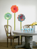 Gerberas with Stems Wall Decal