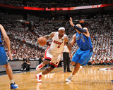 Dallas Mavericks v Miami Heat - Game Two, Miami, FL - JUNE 2: LeBron James and Shawn Marion Photographic Print by Jesse D. Garrabrant