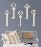 Taupe Keys Wall Decal