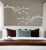 Grey Branch With Birds Autocollant mural