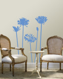 Blue Agapanthus Wallstickers