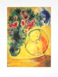 Sun and Mimosa Kunst af Marc Chagall