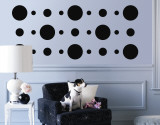 Black Circles - Duvar Çıkartması