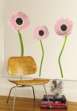 Light Pink Poppies Muursticker
