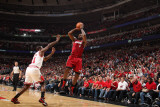 Miami Heat v Chicago Bulls - Game Five, Chicago, IL - MAY 26: LeBron James and Ronnie Brewer Photographic Print by Nathaniel S. Butler