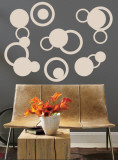 Taupe Rings Wall Decal
