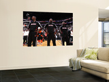 Dallas Mavericks v Miami Heat - Game Two, Miami, FL - JUNE 2: Chris Bosh, LeBron James and Dwyane W Wall Mural by Andrew Bernstein