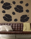 Black Tropical Leaves Wall Decal