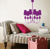 Purple Modern Chandelier Wall Decal