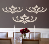 Taupe Flourish Wall Decal