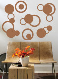 Mocha Rings Wall Decal