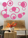 Light Pink Rings Wall Decal