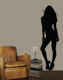 Pinup Girl Wall Decal