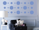 Blue Circles Wall Decal