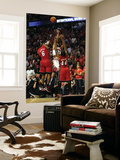 Miami Heat v Chicago Bulls - Game Five, Chicago, IL - MAY 26: Derrick Rose, LeBron James and Udonis Wall Mural by Jonathan Daniel