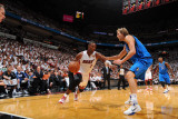 Dallas Mavericks v Miami Heat - Game One, Miami, FL - MAY 31: Dirk Nowitzki and Chris Bosh Photographic Print by Jesse D. Garrabrant
