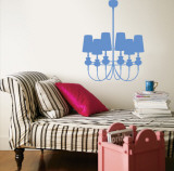 Blue Modern Chandelier Wall Decal