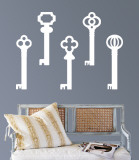 White Keys Wall Decal