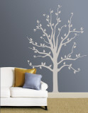 Grey Tree Muursticker