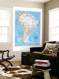 1992 South America Map Wall Mural by  National Geographic Maps
