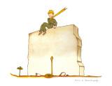 Le Petit Prince et le Serpent Poster by Antoine de Saint-Exupéry