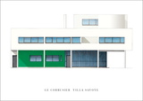 Villa Savoye, Nord-Est Print by Le Corbusier 