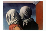 Les Amants (Lovers) Poster by Rene Magritte
