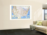 1976 United States Map Wall Mural