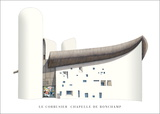 Chapelle de Ronchamp Posters par Le Corbusier 