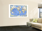 1965 World Map Wall Mural
