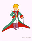 Petit Prince et la Cape Rouge Arte por Antoine de Saint-Exupry